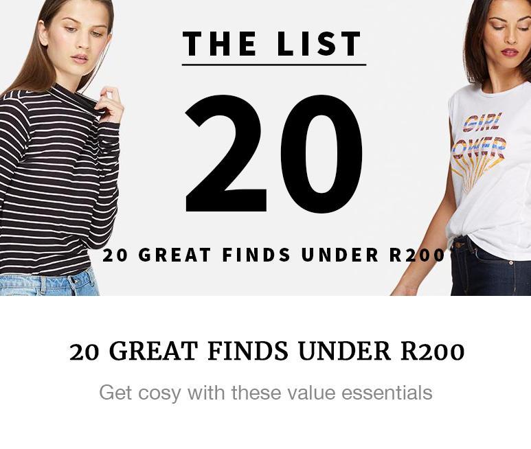 value under R200 fashion superbalist
