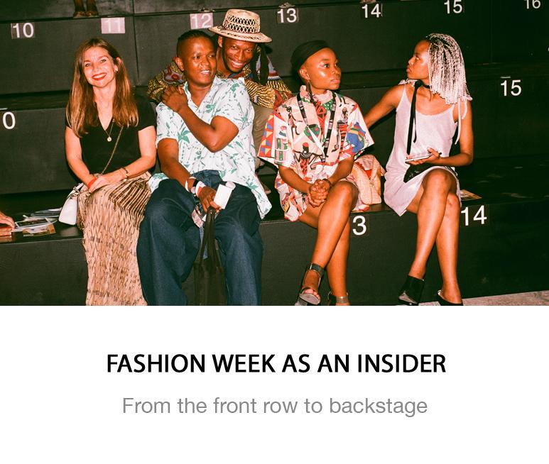 Fashion week behind the scenes