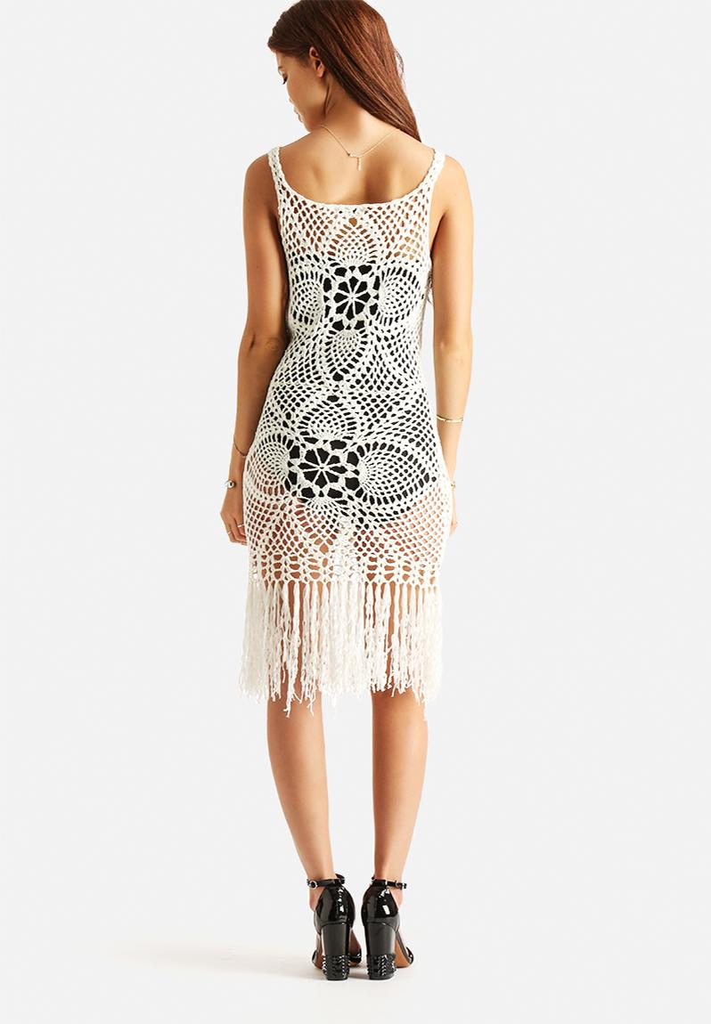 crochet dress cream glamorous casual superbalistcom