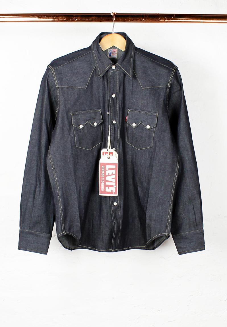 1955 Sawtooth Denim Shirt Rigid Levi S Vintage Range