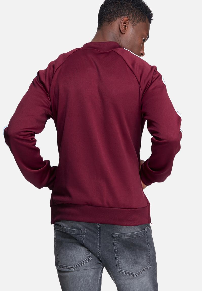 burgundy adidas hoodie