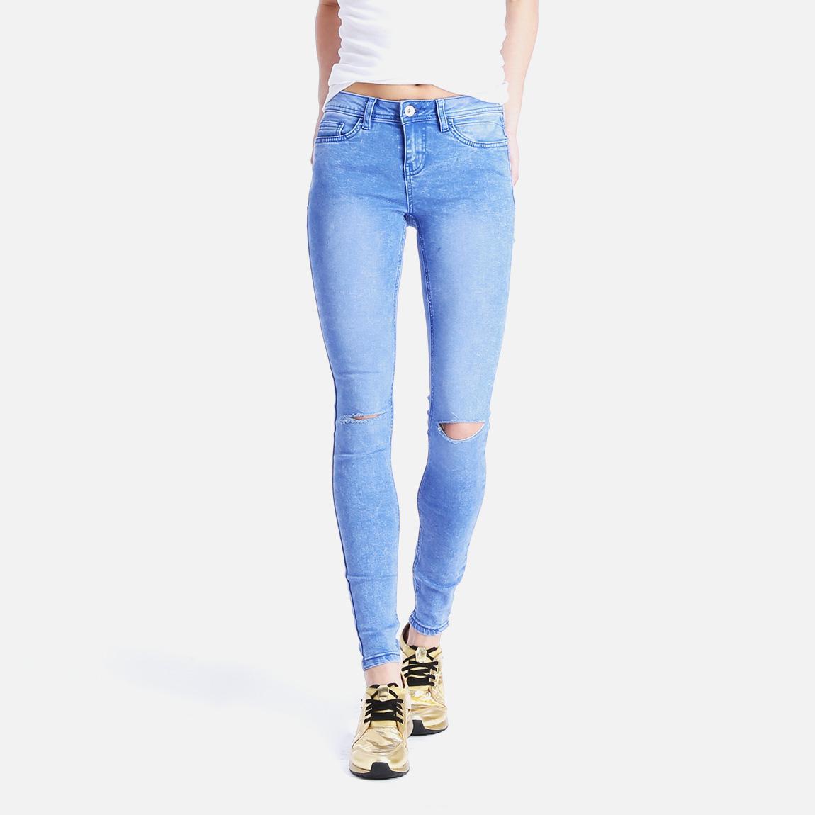 knee slash betty blue new look jeans. Black Bedroom Furniture Sets. Home Design Ideas