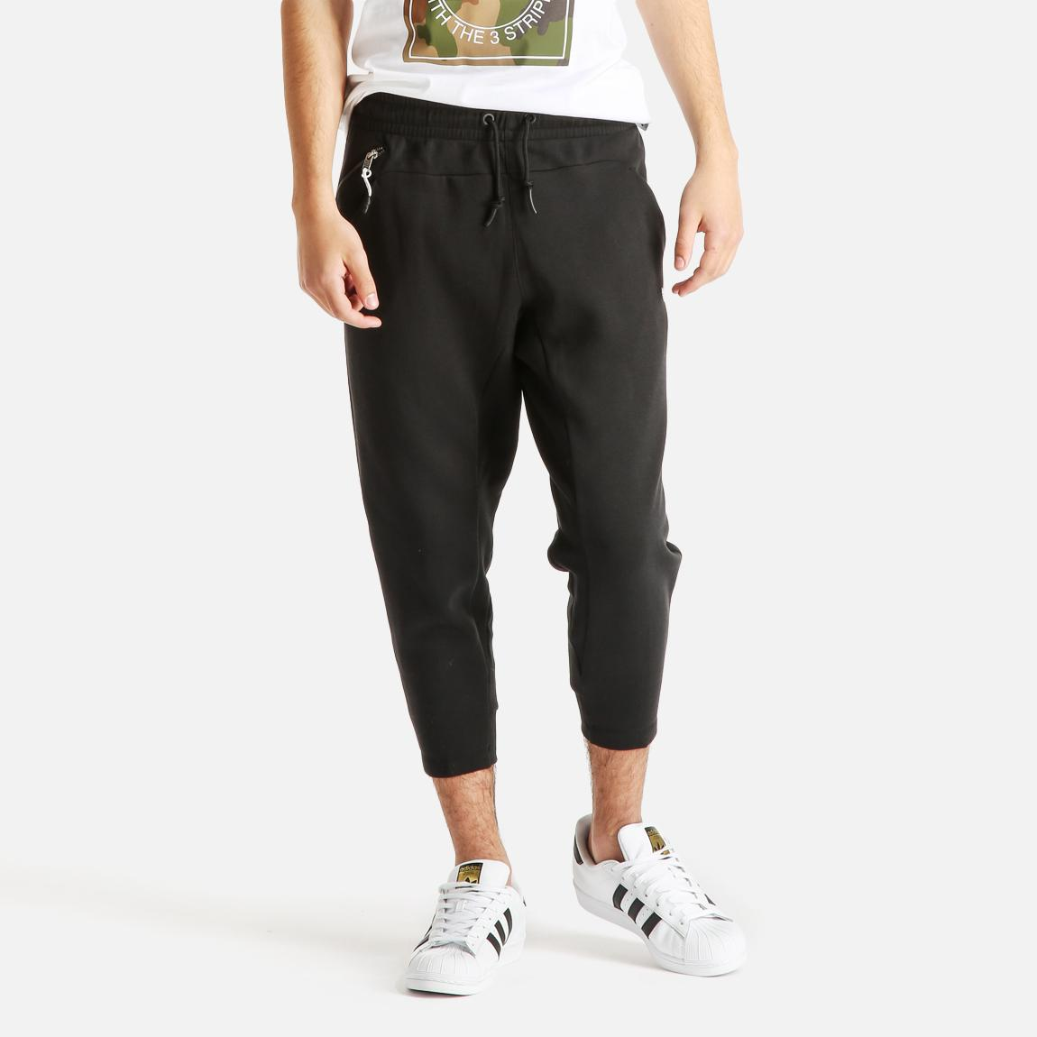 luxe 3 4 pants black adidas originals sweatpants. Black Bedroom Furniture Sets. Home Design Ideas