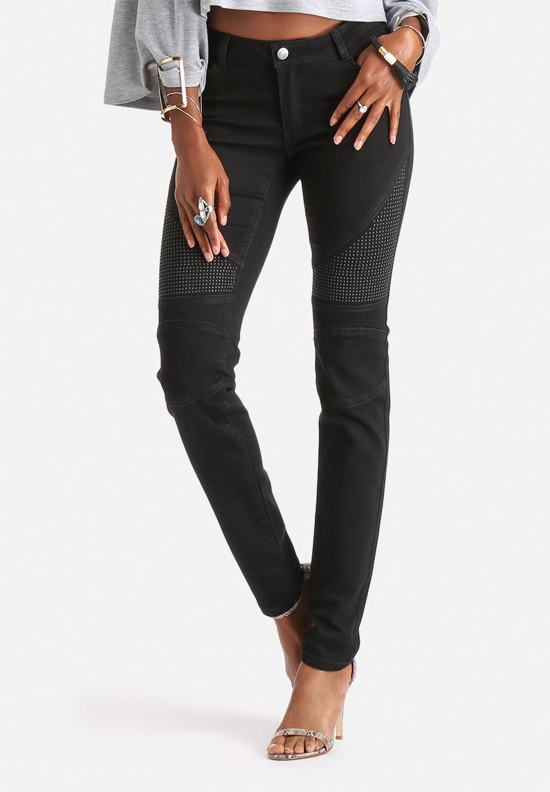 Eve LW Slim Biker Jeans Black Noisy May Jeans
