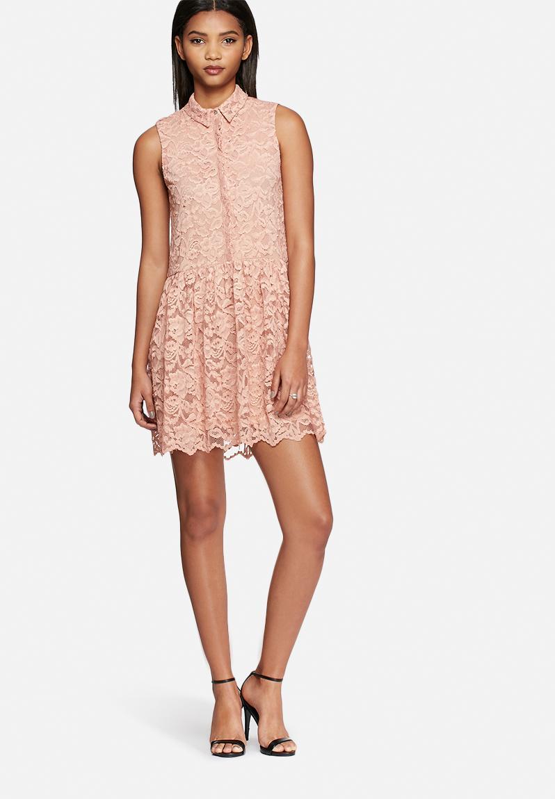 Roman Lace Dress Misty Rose YAS Occasion