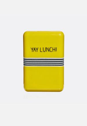 Wild & Wolf Yay Lunch Box Kitchen Accessories Yellow
