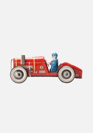 Play Things Wind-up Racer Toys & LEGO Tin