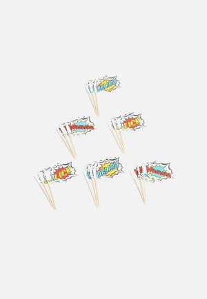 Ginger Ray Pop Art Party – Food Flags Partyware