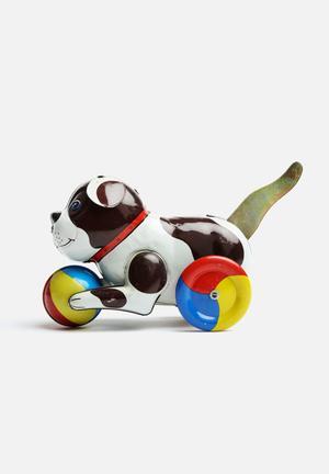Play Things Push And Go Dog Toys & LEGO Tin