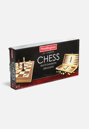 Waddingtons Of London 3-in-1 Games Set Wood