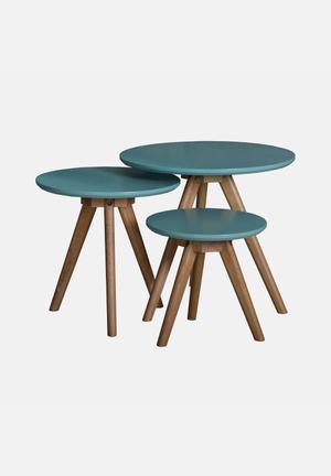 Sixth Floor Nest Table Turquoise