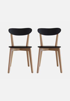 Sixth Floor Lyss Dining Chair Set Of 2 Black