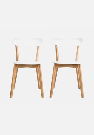 Sixth Floor Lyss Dining Chair Set Of 2  White
