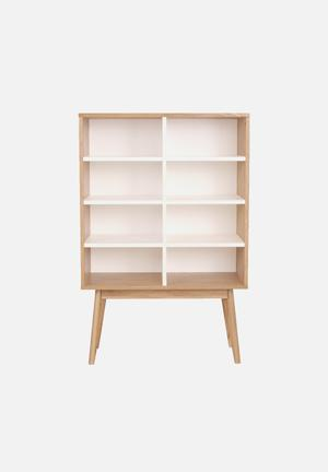 Sixth Floor Radius Bookshelf  White