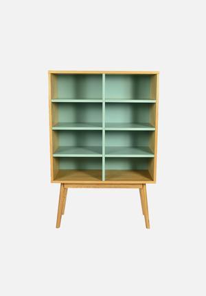 Sixth Floor Radius Bookshelf  Turquoise