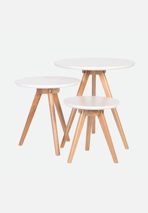 Sixth Floor Nest Table White