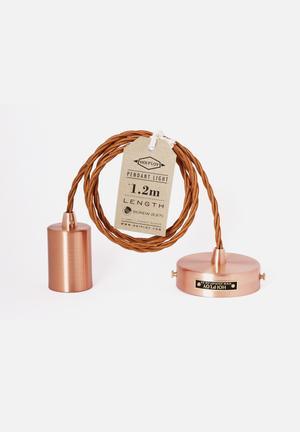 Hoi P'loy Metallic Signature Ceiling Pendant Light Lighting Copper