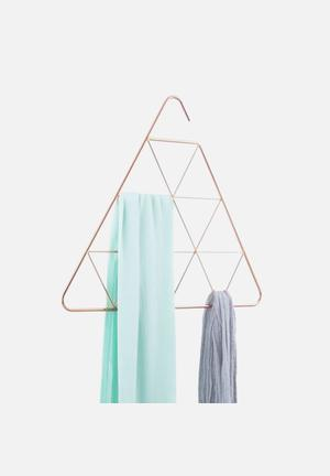 Umbra Pendant Scarf Hanger Triangle Organisers & Storage Copper