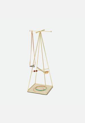 Umbra Prisma Jewellery Stand Organisers & Storage Matte Brass