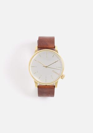 Komono  Winston Regal Watches Brown & Gold