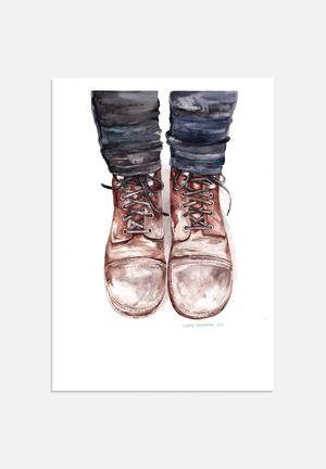 Claudia Liebenberg Dusty Boots Art