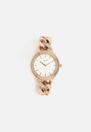 DKNY Chambers Watches Rose Gold