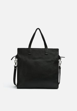 FSP Collection Director Leather Tote Bags & Purses Black