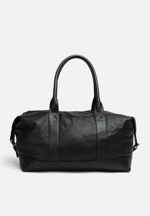 FSP Collection Leather Duffel Bags & Purses Black