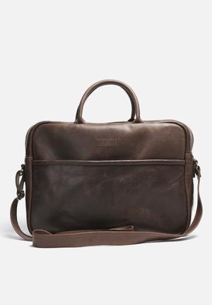 "Burgundy 15"" Briefcase Bags & Wallets Dark Brown"
