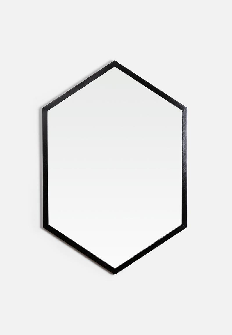 Oblong mirror black superbalist mirrors accessories for Miroir 160 x 50